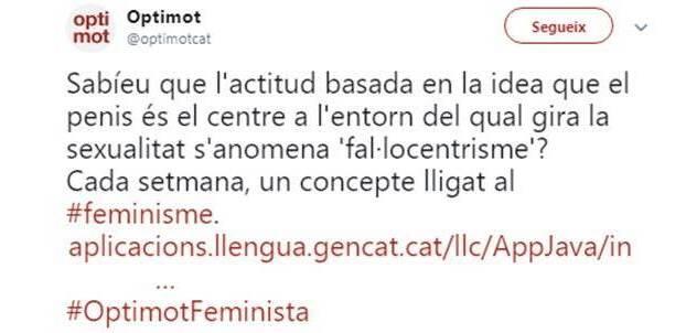Eina per una comunicació no sexista (Observatori de les Dones en els mitjans de comunicació): tweet optimot